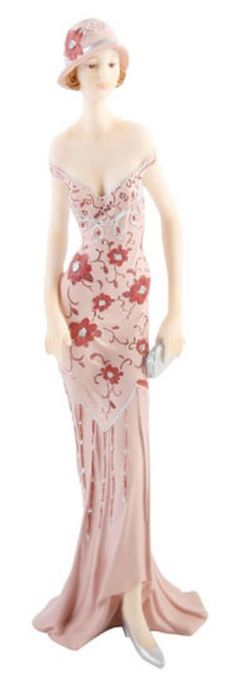 Art Deco Broadway Belles Lady Figurine Statue. Pink Colour #03 Preview