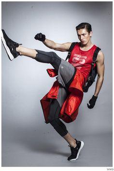 Jullien Herrera & Oli Lacey Get Active in Sporty Styles for WWD image WWD Sporty Fashion Shoot Men 003