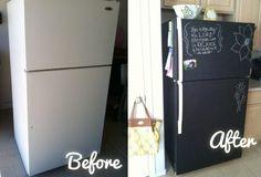 Pintura de pizarra. Diferentes utilidades en casa que te sorprenderán y daran un toque diferente a tu hogar!