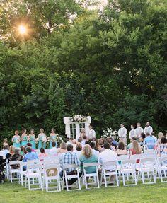 {kansas farm wedding at sunset}