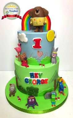 Hey Duggee and friends cake - March 2020 Friends Cake, Cake Business, Cake Makers, Novelty Cakes, Homemade Cakes, March, Birthday Cake, Desserts, Food