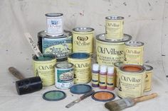 Old Village Paint~ New? Why not try our SAMPLER for $69.00 3 2-Oz jars of Buttermilk Paint = $14.40 3 4-Oz jars of Vintage Paint = $21.60 3 1/2 pint cans various glazes = $46.80 Colour cards and Li terature = $5.00 Total Value Worth - $87.80 & FREE SHIPPING