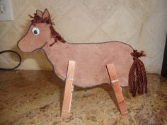 This Clothespin Horse Craft is super easy to create and also helps your Bright Tot practice fine motor skills!