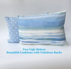 Your place to buy and sell all things handmade White Cushion Covers, White Cushions, Scatter Cushions, Blue Pillows, Nautical Cushions, Seaside Decor, Fabulous Birthday, Holiday Themes, Cornwall