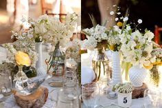 I have a slight obsession with milk glass. LaPartie did such a gorgeous job with these!  Amanda Bevington Photography. Florals by LaPartie Events.