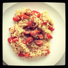 cracked wheat and baby tomatoes