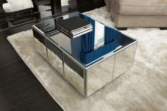 DIY mirror coffee table...or I'm sure you could do it for end tables, ect.