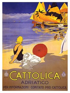 Italy Travel Poster Italian Art Print Retro TR117 by Blivingstons