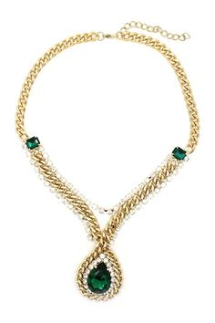 Roses Are Green Necklace by Geometric Jewelry Statements on @HauteLook