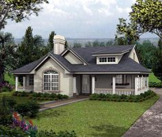 House Plan 87804 | Bungalow   Cottage   Country   Ranch    Plan with 1316 Sq. Ft., 2 Bedrooms, 2 Bathrooms, 2 Car Garage