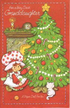 Vintage Strawberry Shortcake Christmas Card