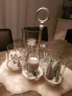 Christmas Decorations, Table Decorations, Candle Holders, Sweet Home, Candles, House Styles, Interior, Bathroom, Home Decor