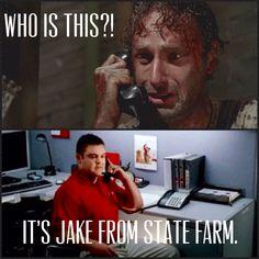 Walking Dead funny. :)