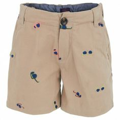 Khaki sunglasses shorts for boys.
