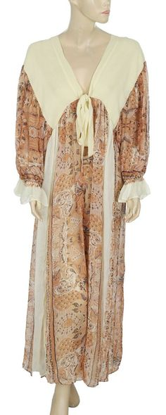 89b2f0846d42 163167 NEW Free People Printed Kimono Sheer wide Leg Jumpsuit Dress Medium  M US  fashion  clothing  shoes  accessories  womensclothing   jumpsuitsrompers  ad ...