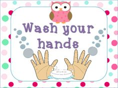 Bathroom Reminder Signs Owl Theme from Chansi.Akridge from Chansi.Akridge on TeachersNotebook.com (3 pages)  - Cute bathroom reminder signs. Wash yor hands and Remember to flush. Comes with large and small so that you can choose which works for you!! Recommend printing two(+) wash your hand signs one for insid
