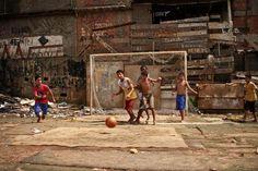 """""""Favela in Rio de Janeiro called """"Tavares Bastos""""."""