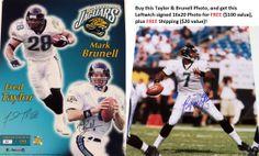 AAA Sports Memorabilia LLC - Mark Brunell  jacksonvillejaguars  jaguars   markbrunell  fredtaylor  autographed  nfl  sportscollectibles   sportsmemorabilia a39a3e7cc