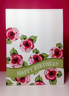 Painted Flowers: Altenew, Sentiment Splits: PTI, by beesmom - Cards and Paper Crafts at Splitcoaststampers
