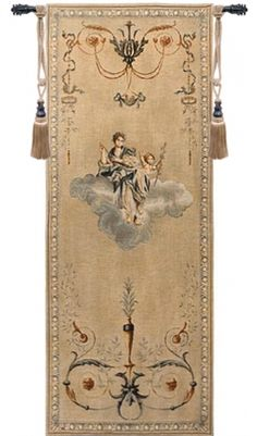 Portiere (Blue Lady) Wall Tapestry