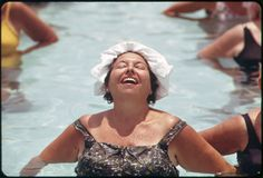 Organized Daily Exercises at the Century Village Retirement Community. Vintage Photos Women, Vintage Photographs, Miss Moss, Still Picture, Muumuu, Palm Beach County, National Archives, Persona, 1970s