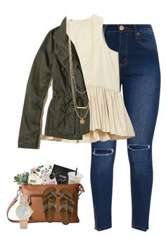 """Untitled #399"" by caitlinelizabeth20 ❤ liked on Polyvore featuring Hollister Co., Birkenstock and Kate Spade"