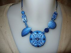 Blue Phantasy | Made on a Sunday afternoon. Sold. | Sonya's Polymer creations | Flickr