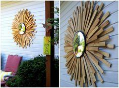 {DIY} Convex Sunburst Mirror