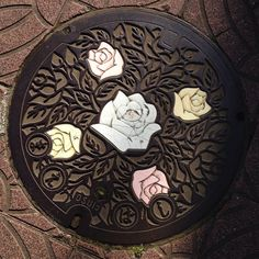 Rose Manhole Cover Art