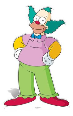Krusty The Klown Lifesize Cardboard Cutout / Standee - The Simpsons