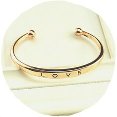 Rose Gold LOVE Cuff Bracelet Beautiful cuff ready to be styled! - can be bent to fit - engraved LOVE - lead & nickel free! Jewelry Bracelets