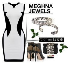 """""""MEGHNA JEWELS- Claw Collection"""" by gabyidc ❤ liked on Polyvore featuring GEDEBE, Chanel and Jimmy Choo"""