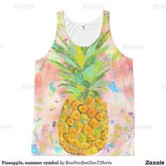 Pineapple, summer symbol All-Over print tank top