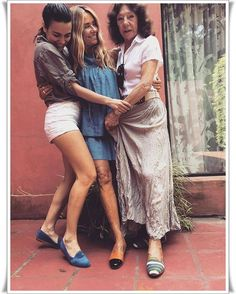 Emilia con su mamá y su hija