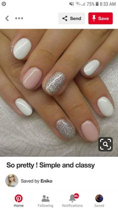 Semi-permanent varnish, false nails, patches: which manicure to choose? - My Nails Shellac Nails, Diy Nails, Acrylic Nails, Nail Polish, Fancy Nails, Cute Nails, Pretty Nails, Nagellack Trends, Dipped Nails