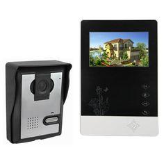 """4.3 """"Kit de Monitor de Color Video de La Puerta Teléfono Video de La Puerta de campana de Intercomunicación Timbre de La Cámara de INFRARROJOS de Visión Nocturna para el Apartamento Casa F4356A"""