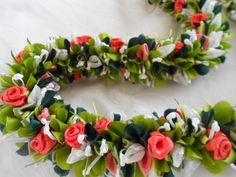 This haku lei is made entirely from ribbon.  I must learn how to do this!!!