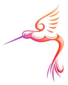 hummingbird drawing outline - Google Search
