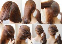 Penteado super simples e bonito.