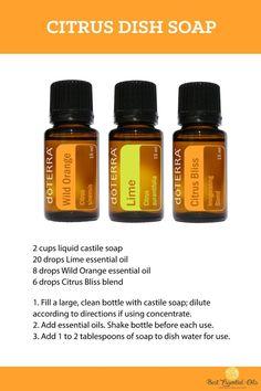 doTERRA Essential Oils DIY Citrus Dish Soap Recipe
