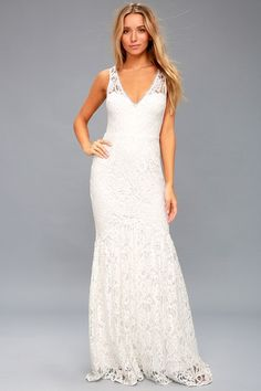 ed7634be400 Elbridge White Lace Maxi Dress