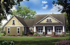 THIS IS THE ONE!!!!!!!!!!!!!!!!!!!!!! House Plan 59193 | Cottage Country Craftsman Plan with 2100 Sq. Ft., 4 Bedrooms, 3 Bathrooms, 2 Car Garage at family home plans .