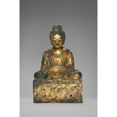Buddha dated 338 Place of Origin: China, Hebei province Date: 338 Historical Period: Late Zhao period (319-351) Materials: Gilded bronze Dimensions: H. 15 3/4 in x W. 9 1/2 in x D. 5 1/4 in, H. 40 cm x W. 24.1 cm x D. 13.3 cm Credit Line: The Avery Brundage Collection Department: Chinese Art Collection: Sculpture