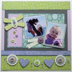 Scrapbook Layout Papercrafting http://www.buttonsgaloreandmore.com/product-p/gb129.htm