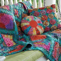 Jeweled Frames quilt, Kaffe Fassett design. Free pattern with registration at Make It Coats by johnnie