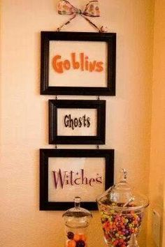 Utiliza marcos para decoración de halloween. #DecoracionHalloween
