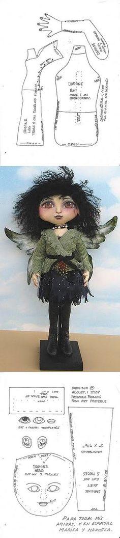 Стильный ангел.Текстильная игрушка Puppet Tutorial, Doll Tutorial, Doll Patterns, Crochet Patterns, Textiles, Fairy Dolls, Soft Sculpture, Softies, Doll Toys