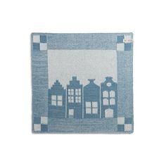 Printed Vertical Block Stripes Design Tea Towel Microfiber Six Colours