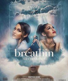 'breath'in' Poster by Ninetyfour-gfx Ariana Grande Fotos, Ariana Grande Poster, Ariana Grande Pictures, Ariana Grande Photoshoot, Wallpaper Ariana Grande, Ariana Grande Sweetener, Hd Wallpaper, Wallpapers, Cat Valentine