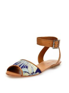 Embroidered Fabric Sandal by Antik Batik at Gilt Crazy Shoes, Me Too Shoes, Ballerina, Boho Fashion, Fashion Shoes, Shoes Sandals, Heels, Flat Sandals, Fashion Corner